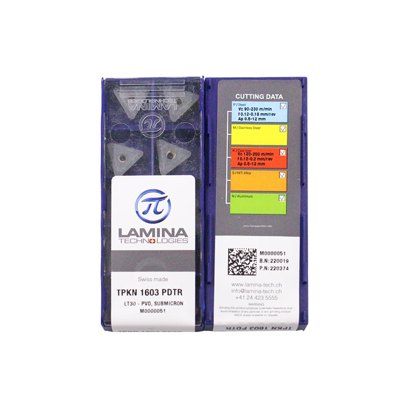 TPKN1603PDTR LT30 100% Original LAMINA carbide insert with the best quality 10pcs/lot free shipping