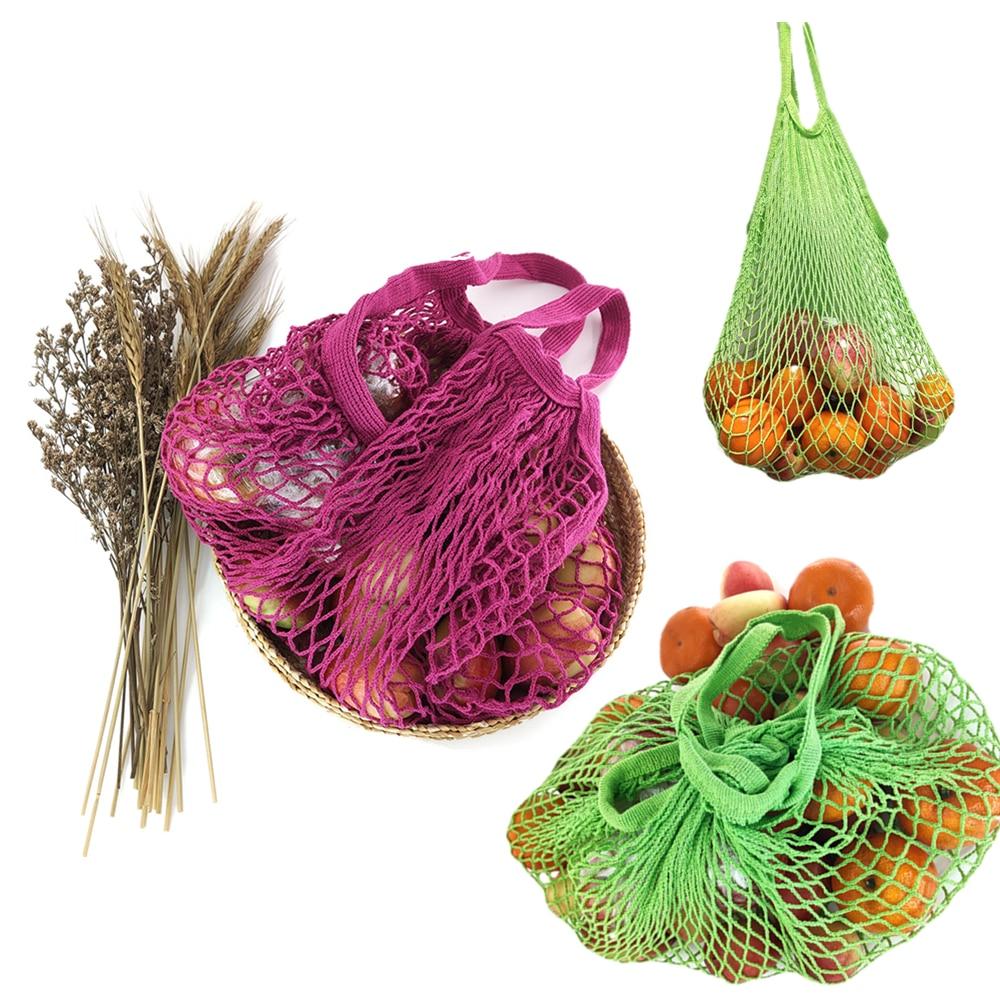 Çanta ushqimore të ripërdorshme, çanta perimesh frutash, rrjetë - Magazinimi dhe organizimi në shtëpi - Foto 5