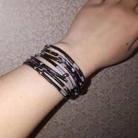 fashion elegant female leopard bracelet magnet buckle wrap multi layer punk leather bracelet jewelry valentines day gift