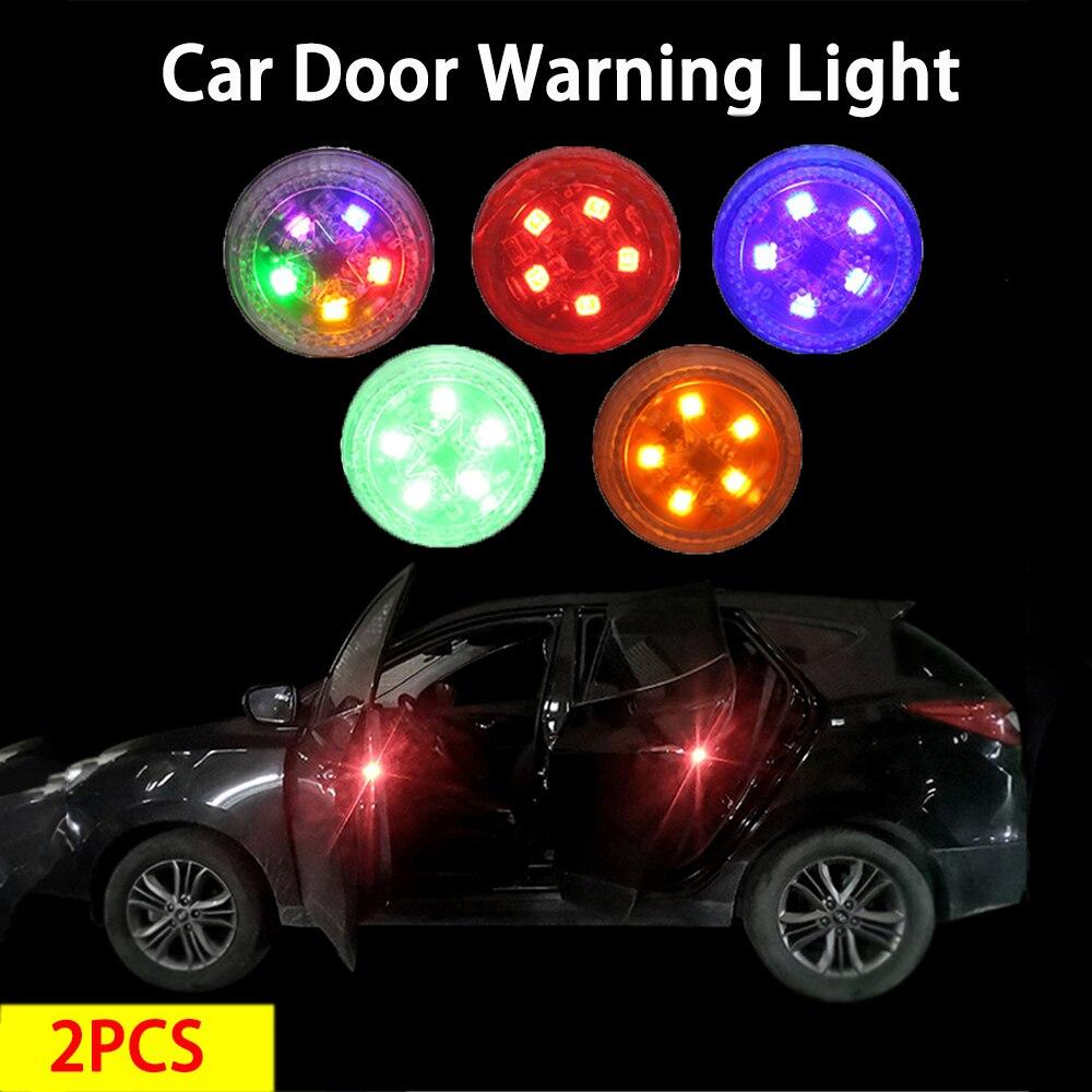 Светодиодный Двери Автомобиля светильник Аварийные огни Безопасность анти-столкновения анти-захвата мигающий индукционный светильник с Б...