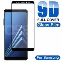 Защитное стекло 9D для Samsung Galaxy A5 A7 A9 J2 J8 2018 A6 A8 J4 J6 Plus 2018, закаленное стекло, защитная пленка для экрана