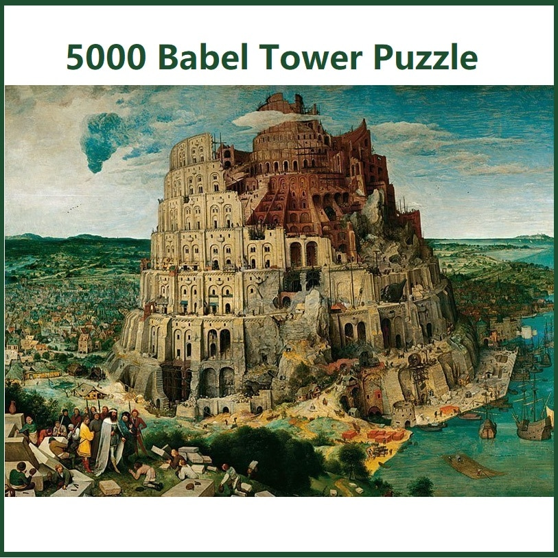 Новый высококачественный монтаж декорации здания Babel Tower 5000 штук головоломки для взрослых подарок
