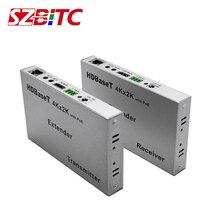 SZBITC 100m HDBaseT HDMI genişletici 4K2Kcat5e/6 çift güç 3af/POE DC12V 3D Ethernet IR kumanda, RS232 blu ray DVD için