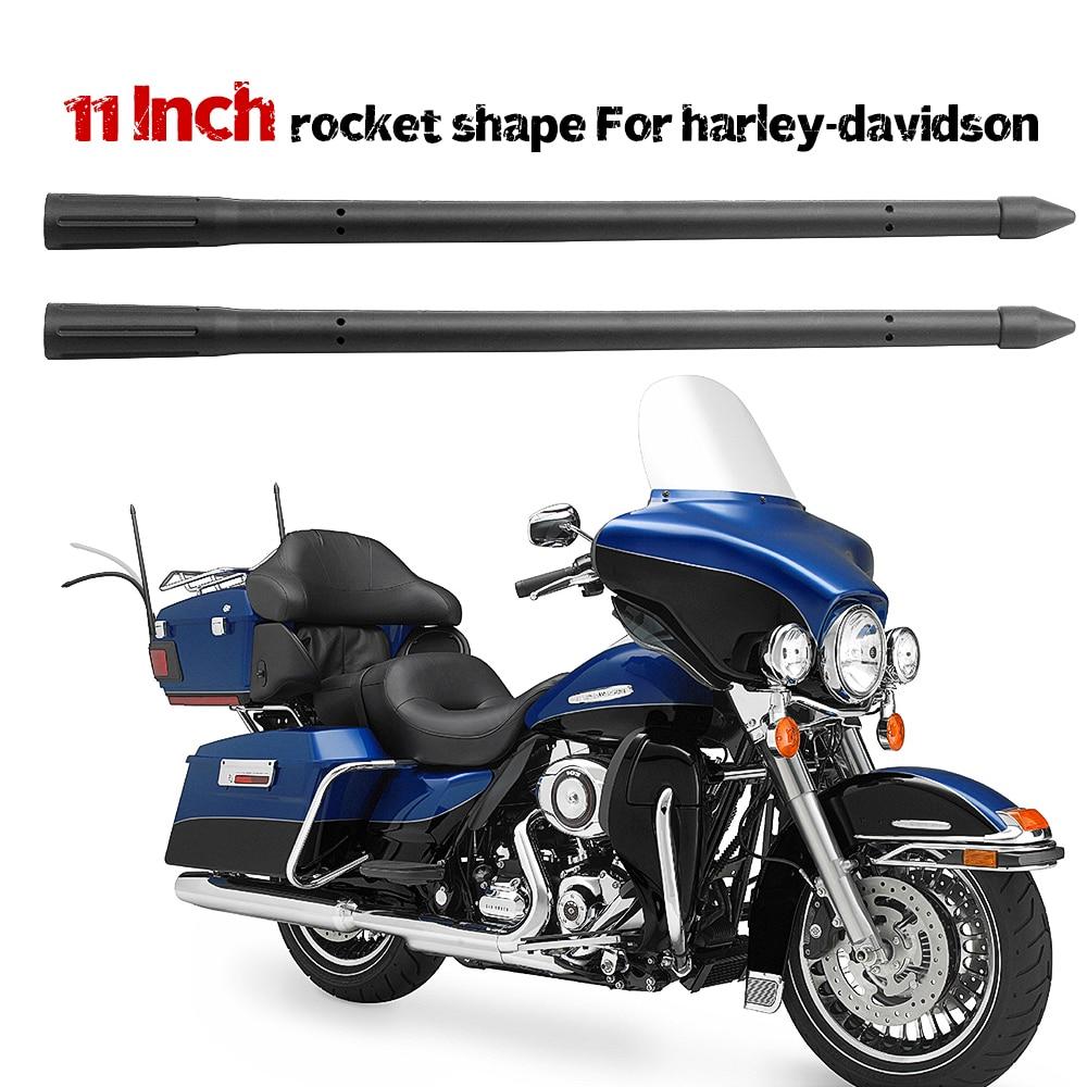 1 par 4,5/5,5/8/11 pulgadas forma de cohete señal fuerte alta calidad goma cobre antena mate para motocicleta halley davidson
