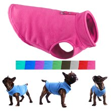 Winter Fleece Pet Dog Clothes Puppy Clothing French Bulldog Coat Pug Costumes Jacket For Small Dogs
