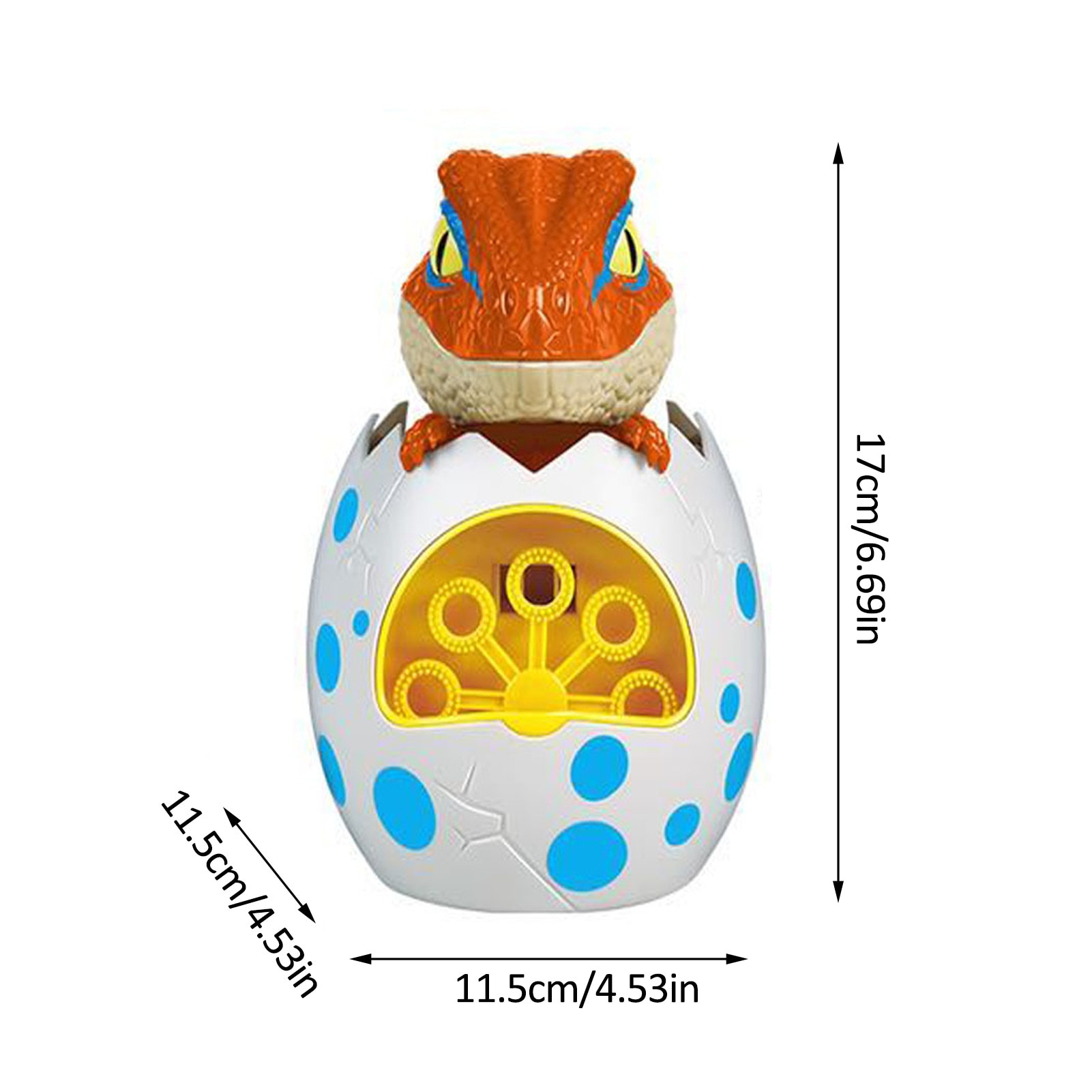 1Pc Cute Dinosaur Egg Automatic Bubble Machine Soap Bubble Blower Summer Children Outdoor Toys Electric Bubble Maker for Kids  - buy with discount