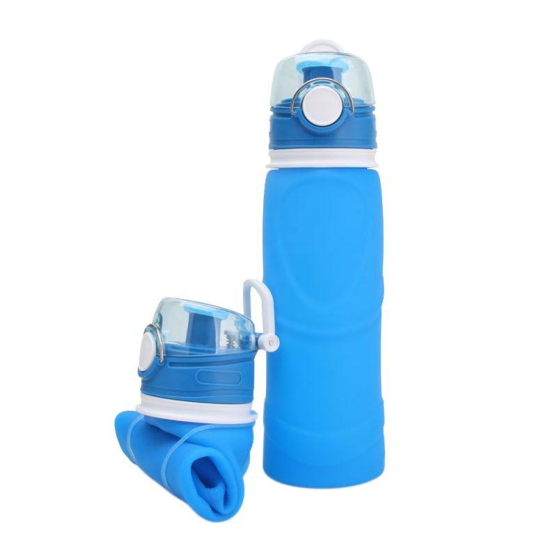 740ml Silicone Leak Proof Travel Climbing Water Bottles Water Bottle Outdoor Sport School Leak Hikin