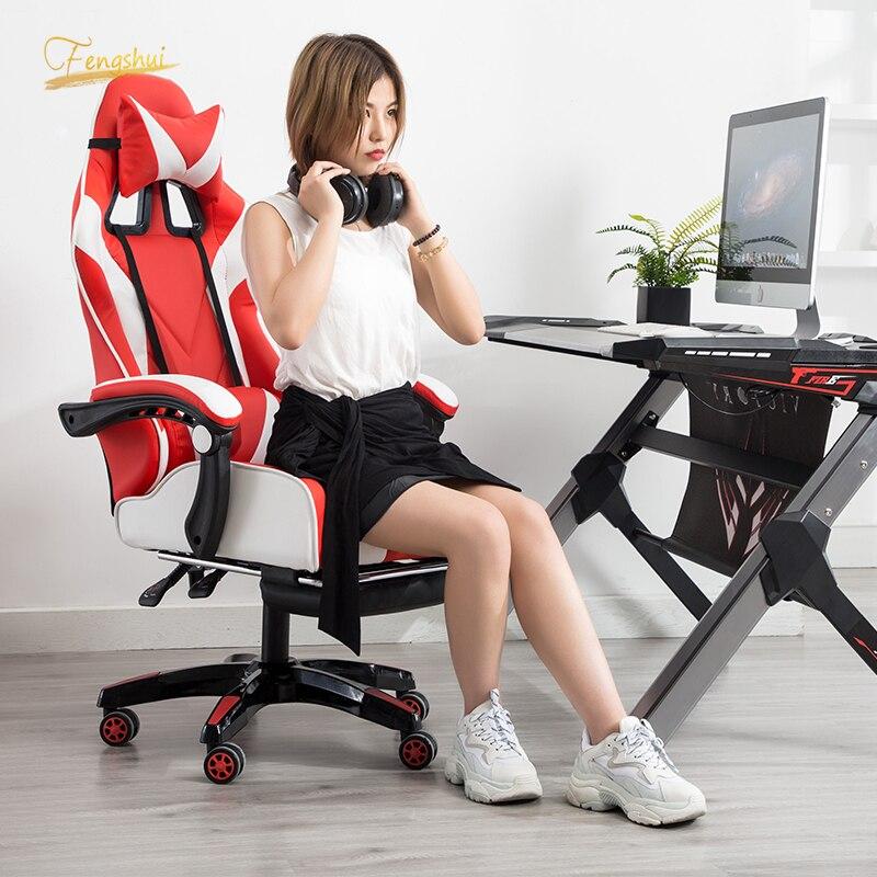 ¡Novedad de 2020! Silla de ordenador profesional DNF LOL, sillón de carreras para deportes en Internet, sillón de elevación WCG Play Gaming Lounge, sillón reclinable de elevación