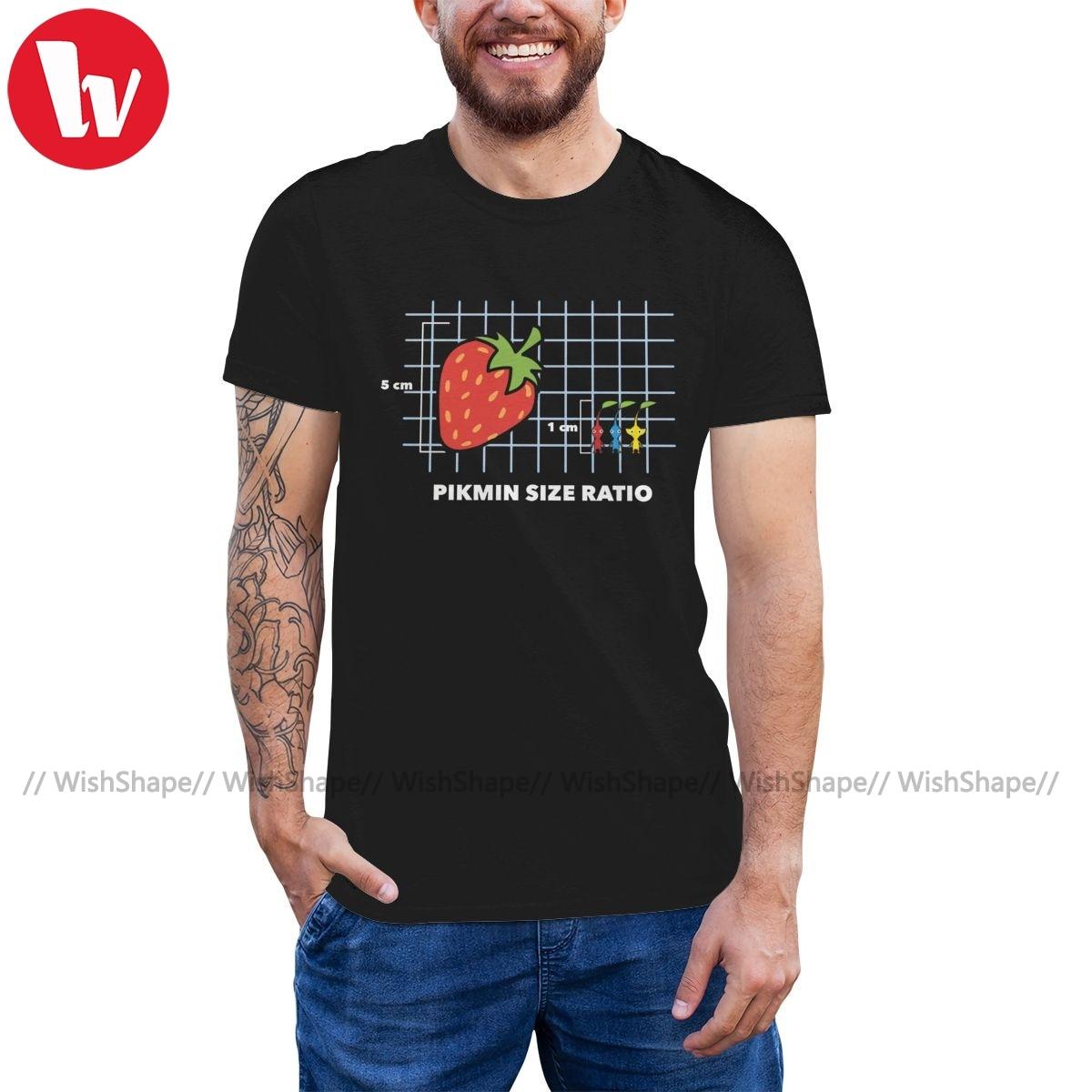 Футболка Pikmin, размер Pikmin, Пляжная футболка с принтом, с короткими рукавами, потрясающая Мужская футболка большого размера