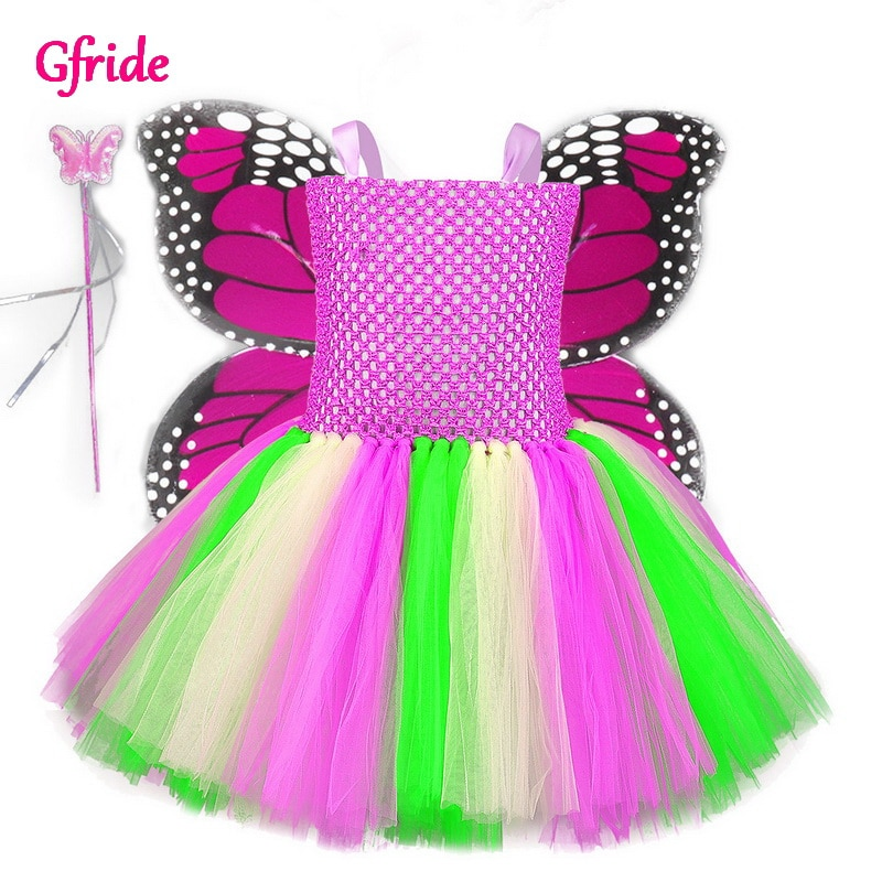 Disfraz de hada y mariposa para Halloween, disfraz para niñas, Cosplay de animales, vestido de tutú de Navidad para niños, traje de Carnaval Purim, ropa de dibujos animados