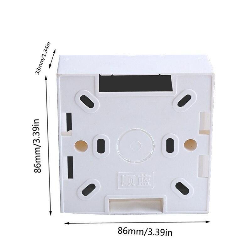86 Switch Box PVC Flame Retardant 86 Single Wall Socket Cassette Panel Base Junction Box Mounting Box Internal cassette