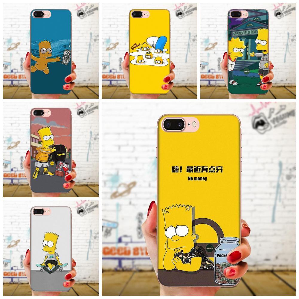 Teléfono Móvil TPU para Huawei Honor 4C 5A 5C 5X6 6A 6X7 7A 7C 7X8 8C 8 9 10 10i 20 20i Lite Pro Simpson