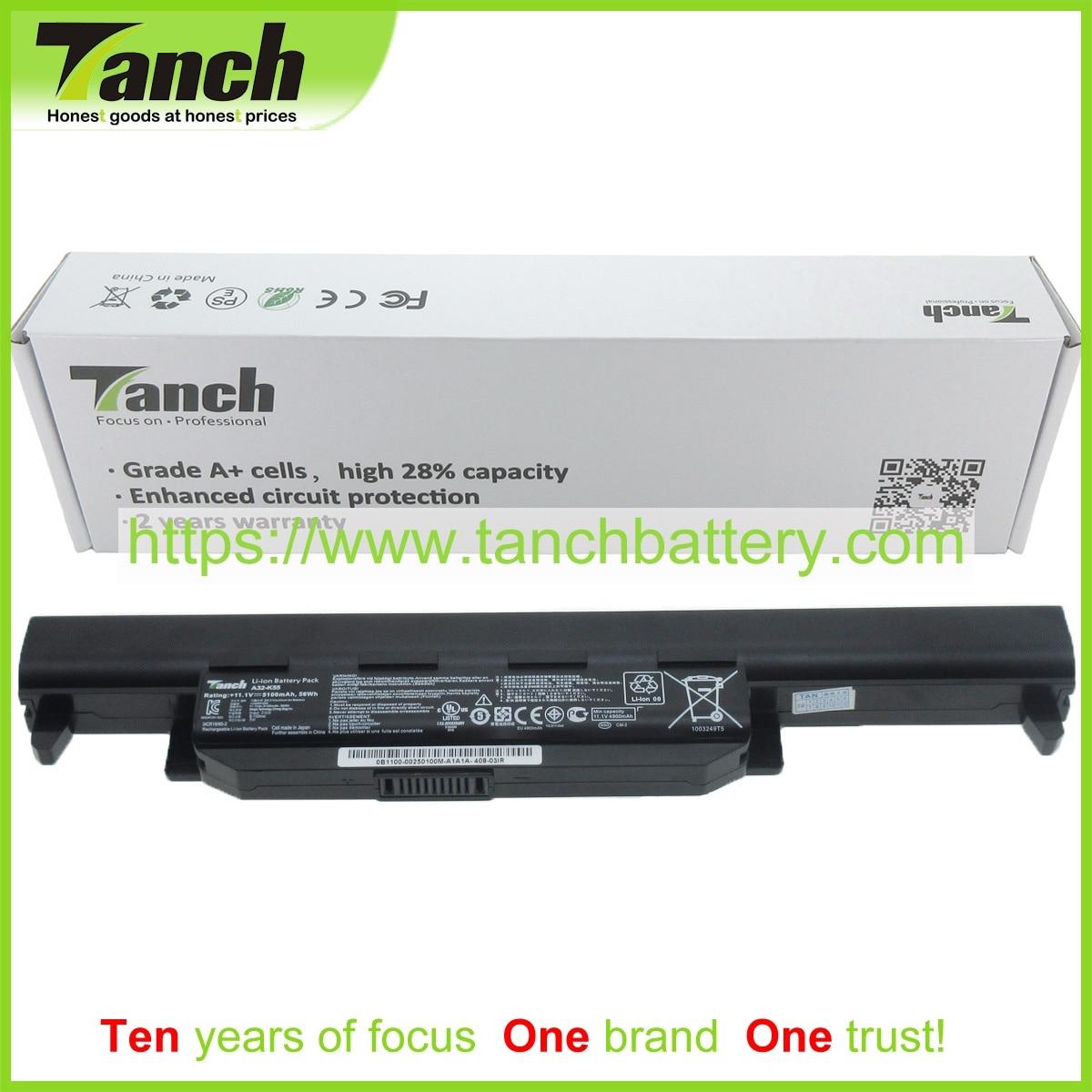 Tanch بطارية كمبيوتر محمول ل ASUS A41-K55 K95VM 0B110-00050400 0B110-00050900 0B110-00050700 0B110-00051100 11.1V 6 خلية