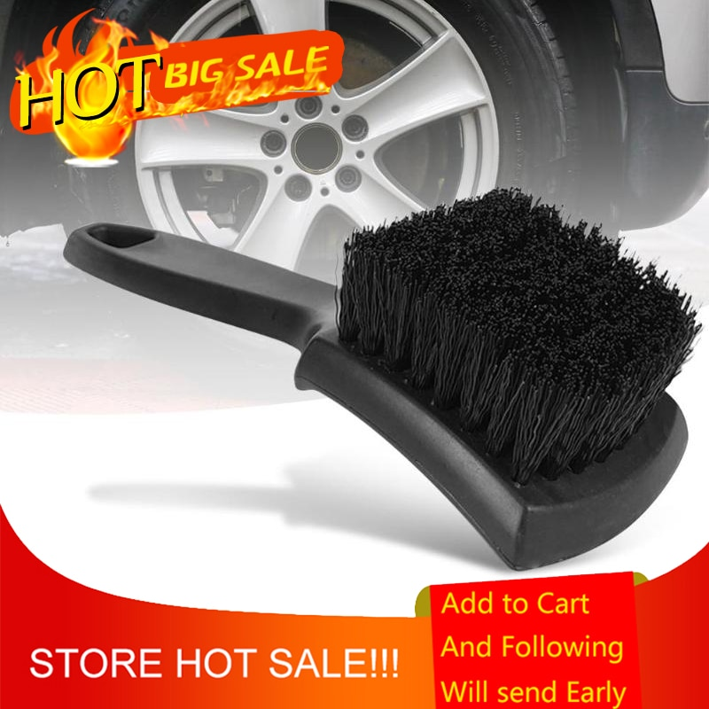 Car Wheel Tire Rim Scrub Brush Auto Detailing Brush Special PP Silk Brush Cleaner and More Thorough