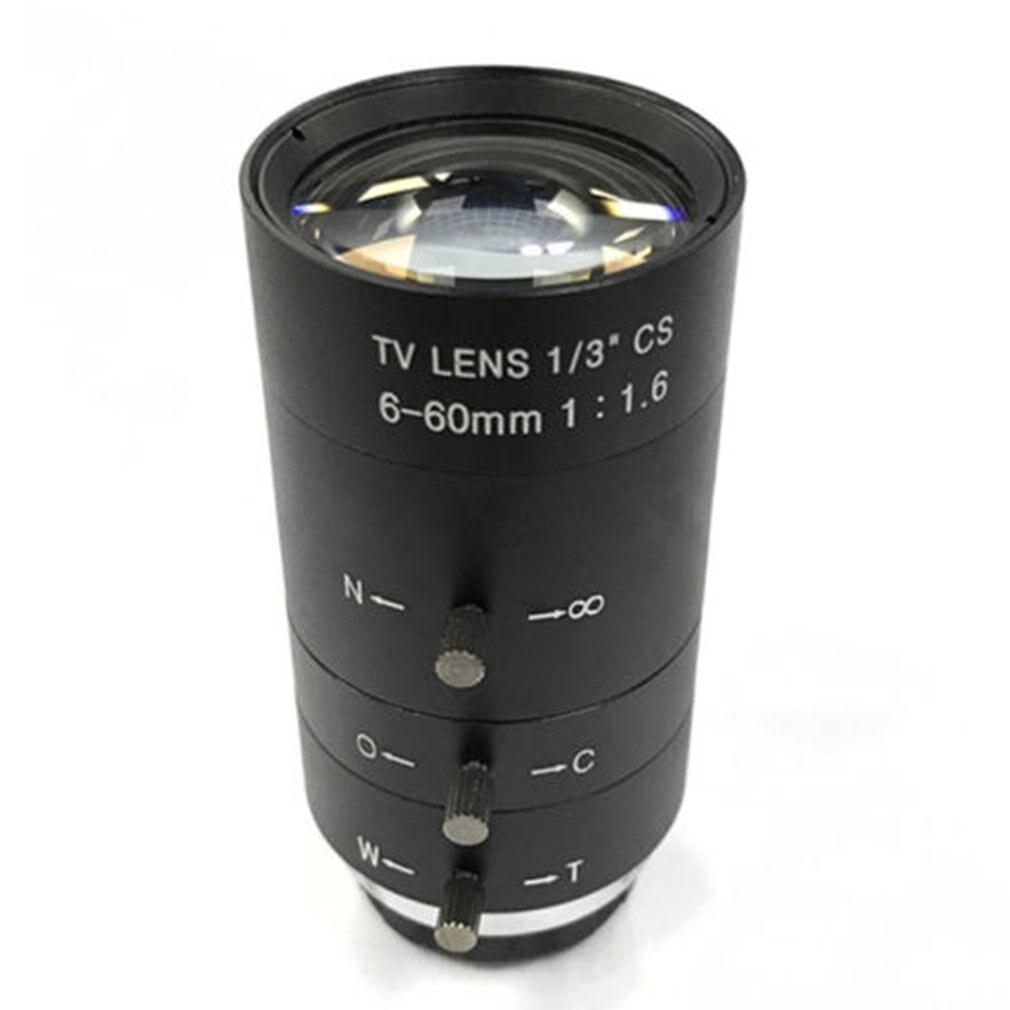 CCTV Video Lens Manual IRIS ZOOM 6-60mm CS Mount Lens For Industrial Microscope Varifocal CCTV Lens Surveillance Camera Lens