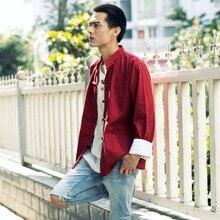 Tangsuit Vintage homme vêtements chinois Style chemise Cheongsam haut traditionnel chinois vêtements pour hommes Wutang Hanfu ethnique