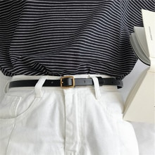Chic Korean Style Retro Fashionable Pin Buckle Women's Thin Belt Decoration with Clothes Tight Waist