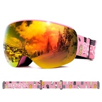 copozz professional children ski goggles anti fog frameless ski eyewear windproof sports equipment winter ski goggles for kids