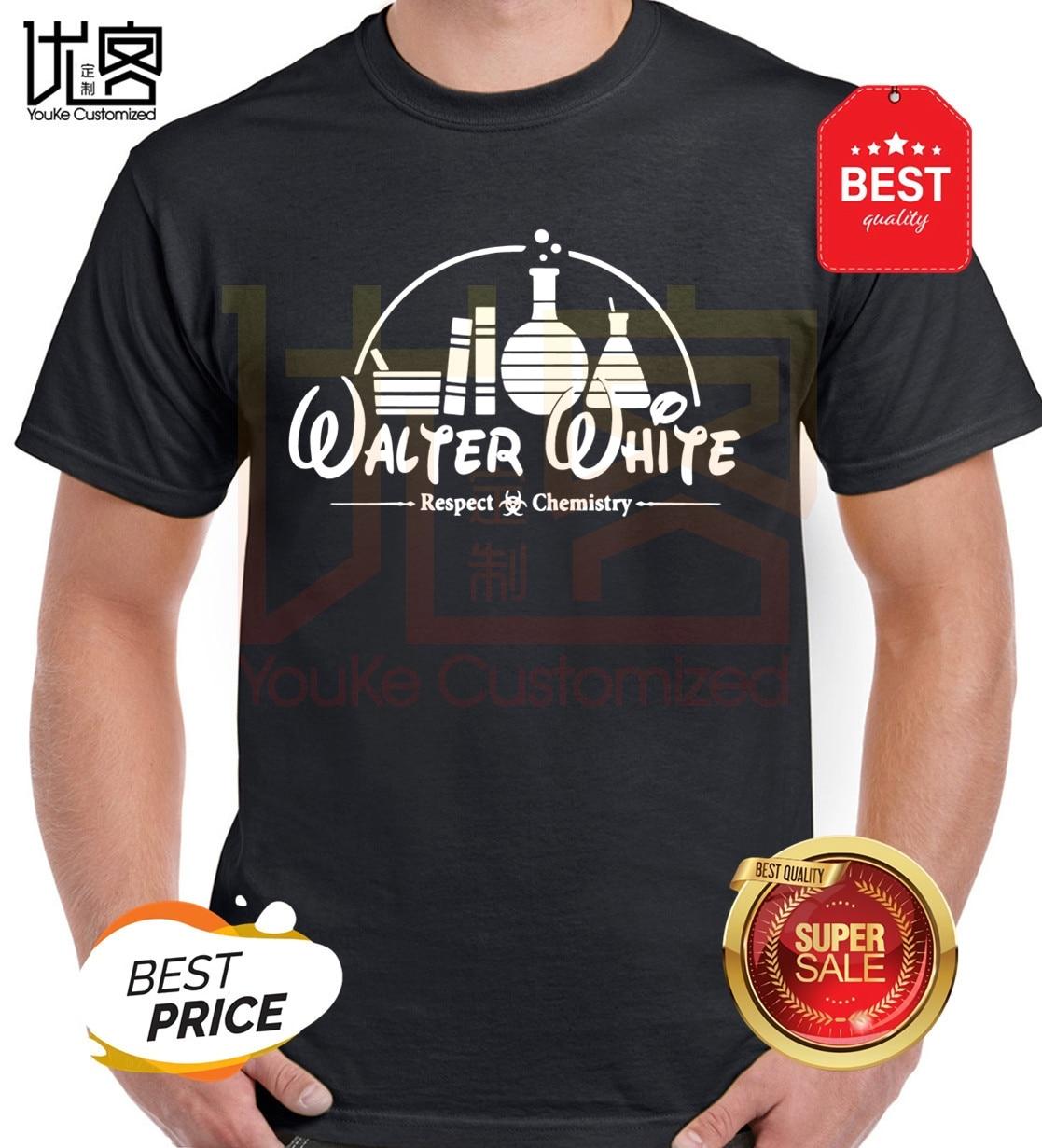 100% de algodón casual breaking bad hombres camiseta pantalón corto casual manga camiseta Tops Heisenberg hombres camiseta