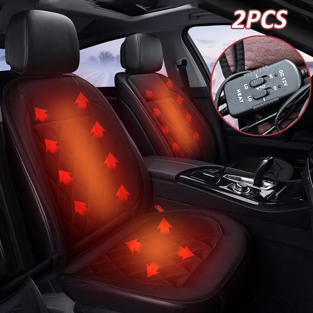2 stücke 12V Auto Beheizte Sitzkissen Auto Sitz Heizung Komfortable Auto Erhitzt Sitz Abdeckung Einstellbare Temperatur für Volle zurück