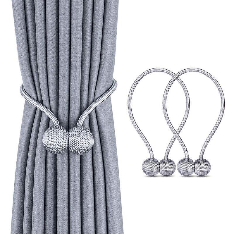 Magnetic Pearl Ball Curtain Tiebacks Tie Backs Holdbacks Buckle Clips Accessory Curtain Rods Accessory Decorative