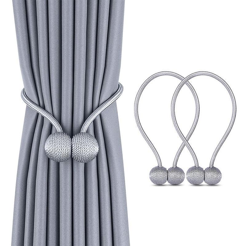 Magnético pérola bola cortina tiebacks gravata costas holdbacks fivela clipes acessório cortina hastes acessório decorativo