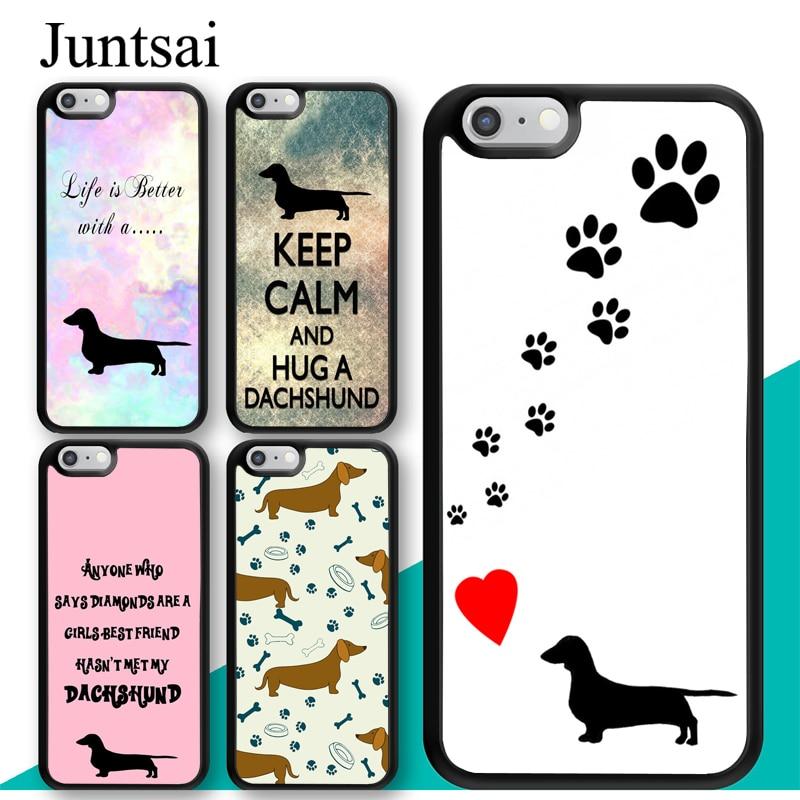 Чехол для мобильного телефона Juntsai Sausage Dog Dachshund Quotes для iphone 11 Pro MAX XR XS MAX X 5S SE 2020 6S 7 8 Plus
