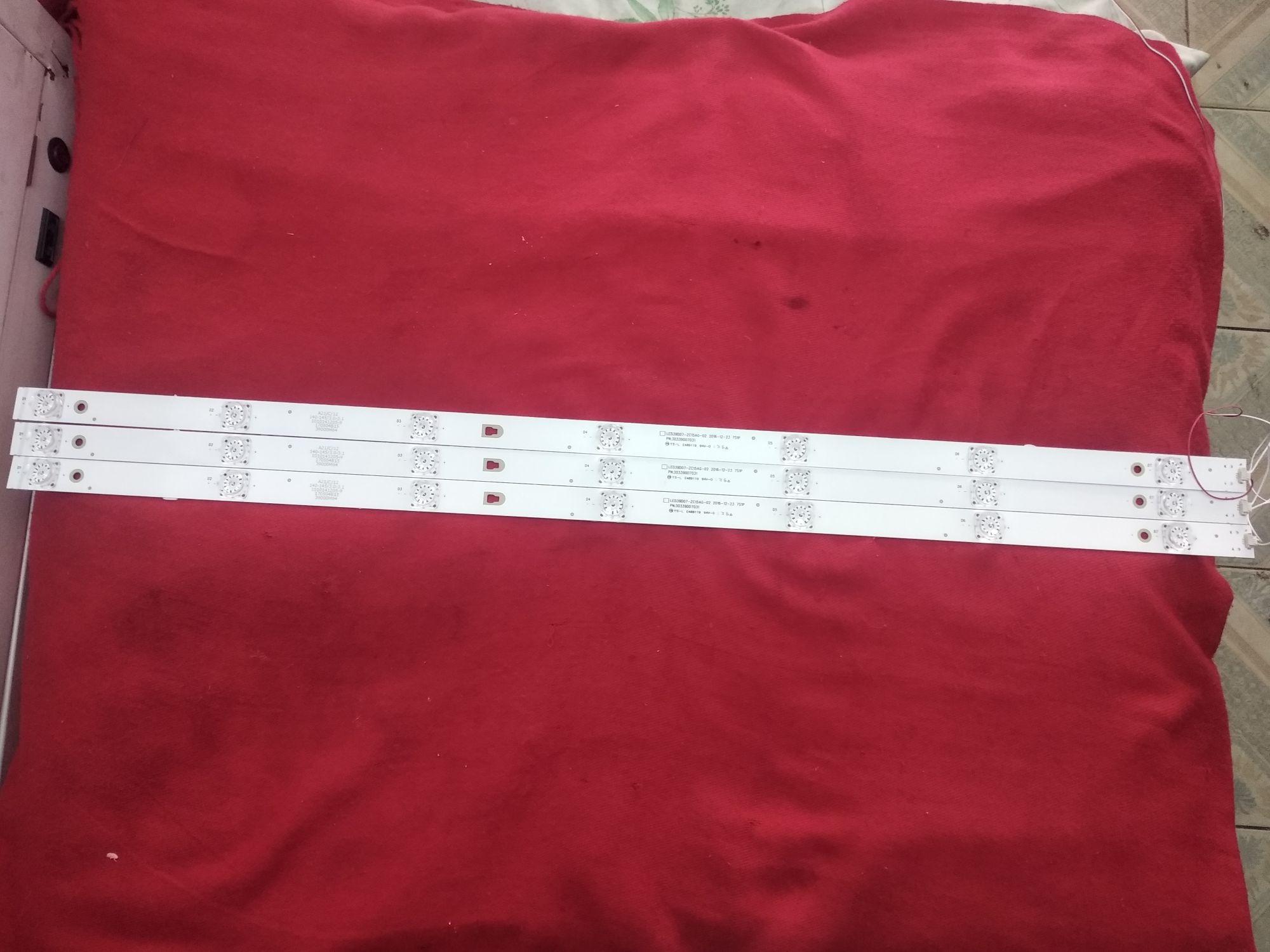 1Set=3PCS LED Backlight Strip 7Lamps LED39D07-ZC15AG-02 30339007031 For LED40F2000C LED40M2000A LED3
