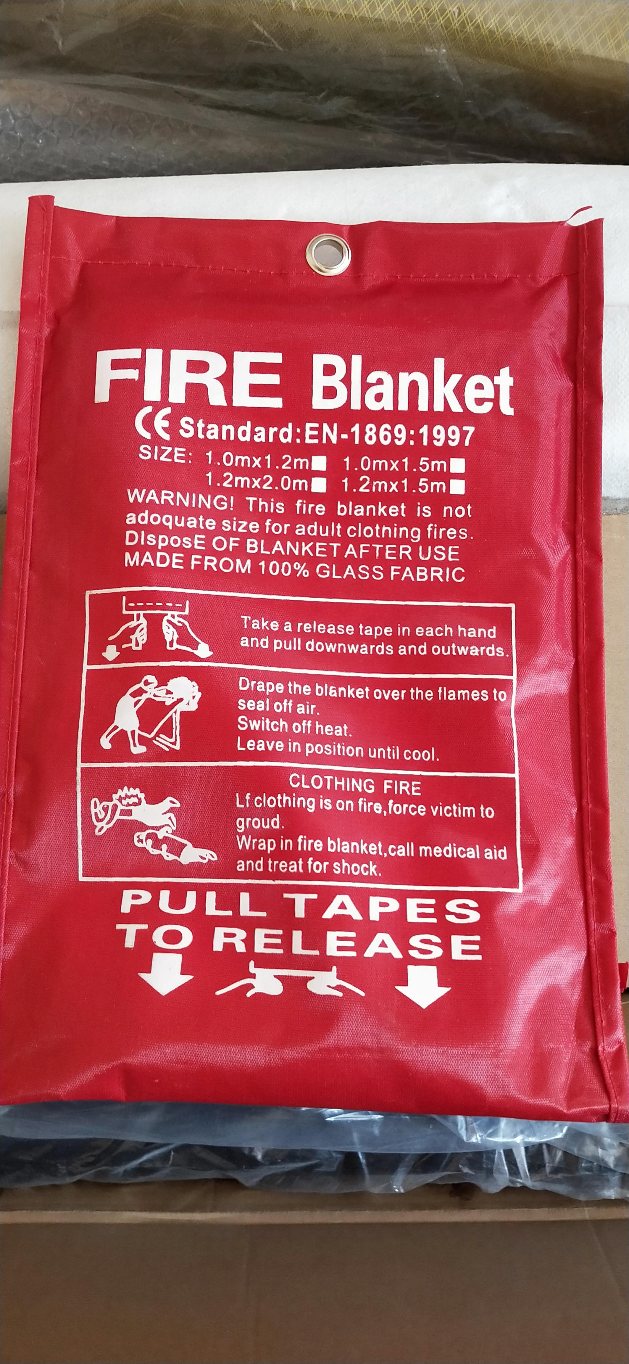 Одеяло пожарное 1 м x 1 м, сварочное одеяло, специальное пожарное оборудование, пожарный материал