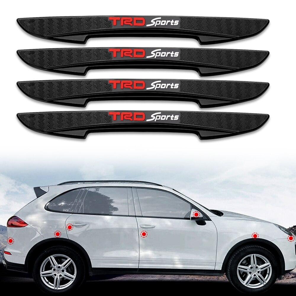 Gel de sílice de coche de Anti-colisión Protector de puerta de coche pegatinas antiarañazos para Toyota corona REIZ Corolla Camry Vios coche accesorios