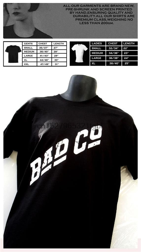 Printed Bad Company T-Shirt New Arrival Humor Men Round Neck Tee Shirts Clothes Top Tee T-Shirt Tops Tshirt