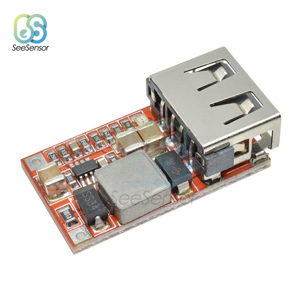 6-24V 12V/24V to 5V 3A Car USB Charger Module DC Buck Step Down Converter Power Supply Module