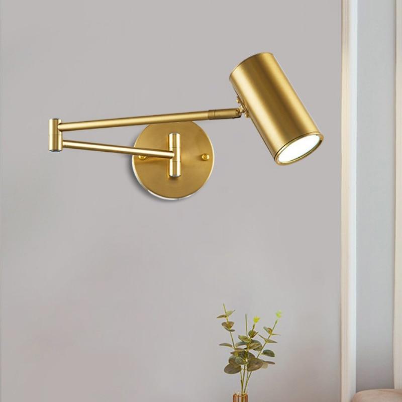 الحديثة الروك الجدار مصباح LED نوم إضاءة داخلية لغرفة المعيشة السرير مصابيح غرفة الدراسة قابل للتعديل الجدار ضوء Loft ديكور
