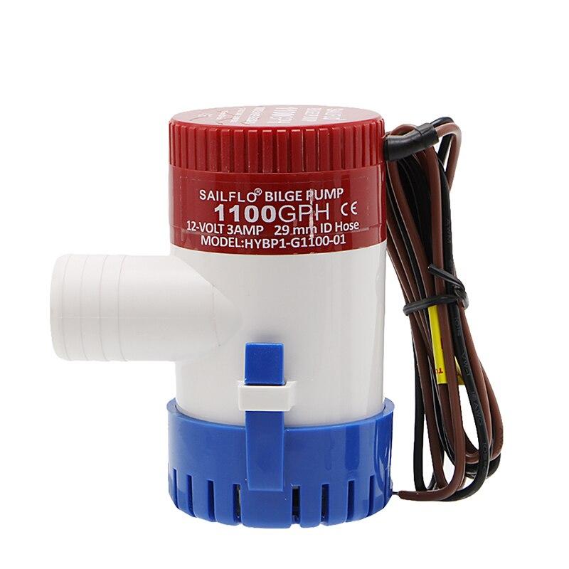 1100GPH 12V Bilge Pump 3AMP 12N Marine Water Pump Submersible Boat Water Pump