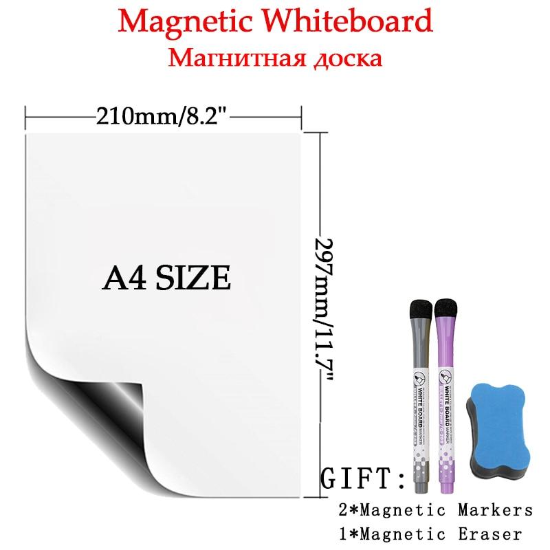 Маркерная доска магнитно-маркерная доска стены белой доски магнитные наклейки для холодильника письменной форме обучения ребенка календа...