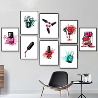 nail polish spalash abstract posters minimalist wall art canvas prints colorful painting decoration pictures room decor