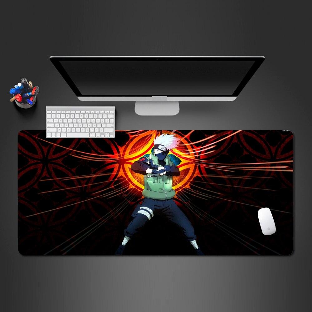 Beste Hot Naruto Anime Muismat Lock Side Gamer Toetsenbord Professionele Muis Mat PC Gaming Kakashi Anime Mause Pad