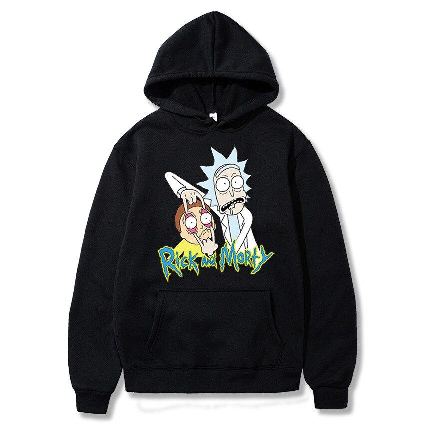 Rick Morty hoodie mens skateboard cotton belt hood