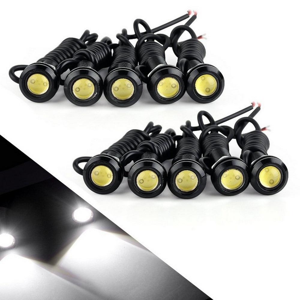 10pcs 12V 9W 23MM LED Eagle Eye Light Car Fog DRL Daytime Reverse Parking Signal Yellow Amber Blue White Red Waterproof Light