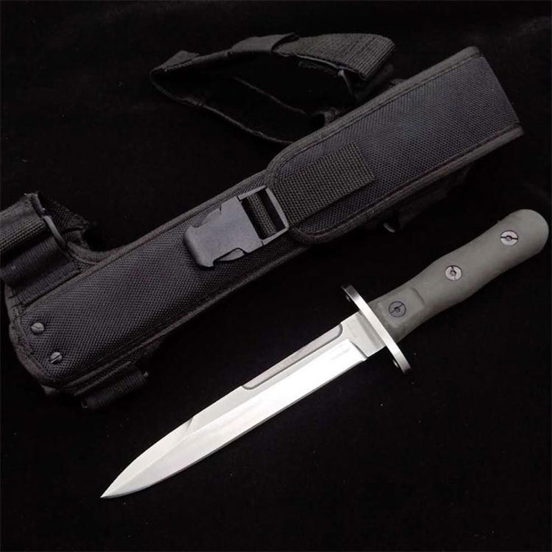MANCROZ-سكين بقاء خارجي 8Cr13Mov ، شفرة ثابتة ، فولاذ ، بمقبض ، EDC ، تخييم ، صيد