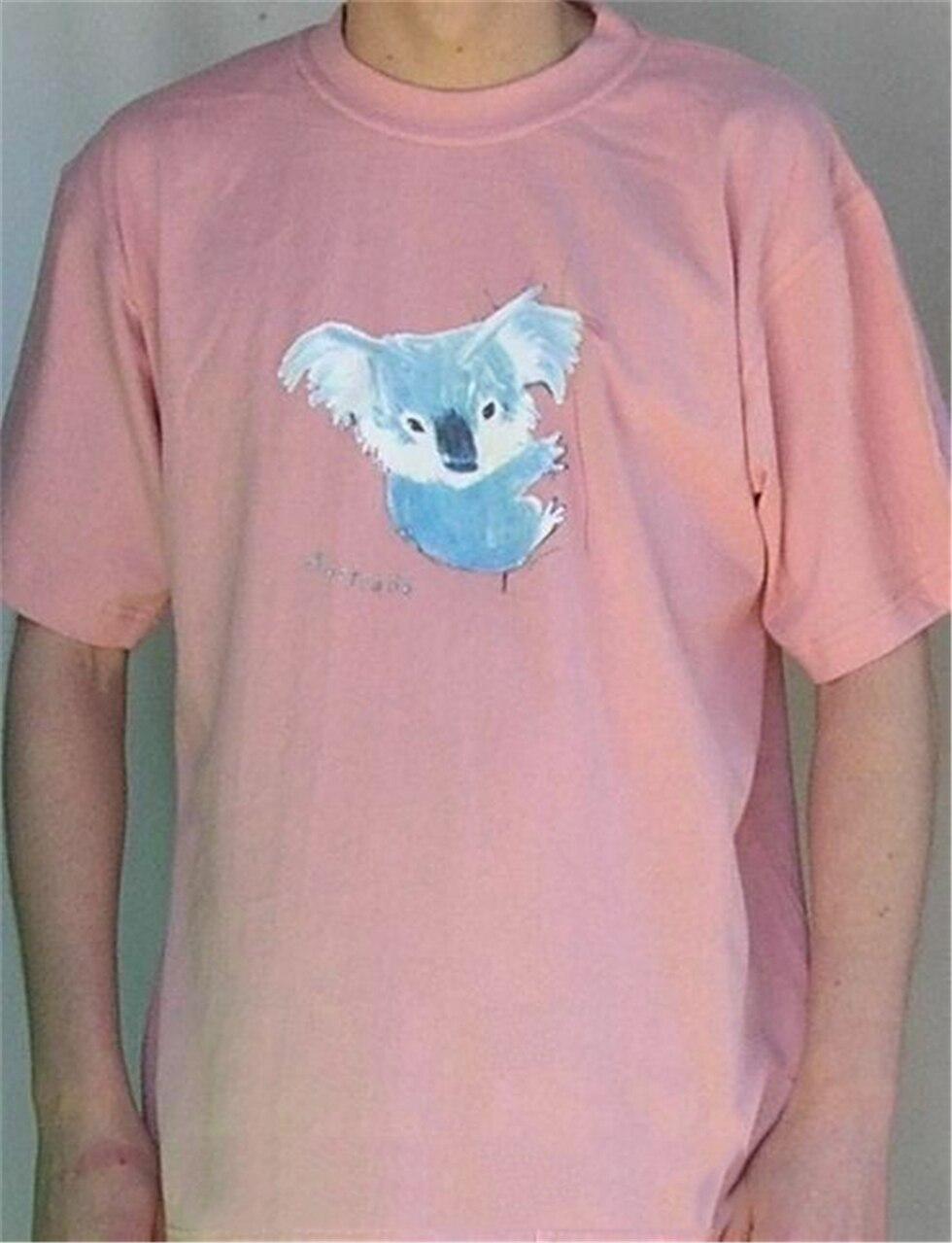 Camiseta Koala Arty (Rosa polvoriento)-Camiseta de Animal nativo australiano-¡envío gratis! Camiseta divertida Harajuku