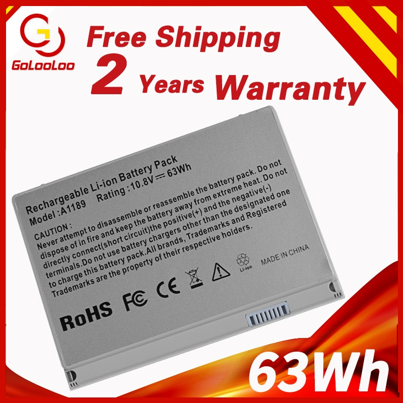 63Wh 10,8 V Аккумулятор для ноутбука 661-4618 A1189 MA458M A611LL/A для APPLE MABOOK PRO 17 A1151 ( 2006-2009 лет) A1229 2007 MA092