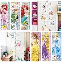 Autocollants muraux pour decoration de maison  theme de princesse  dessin anime  mesure de la taille des enfants  Art Mural  Diy bricolage
