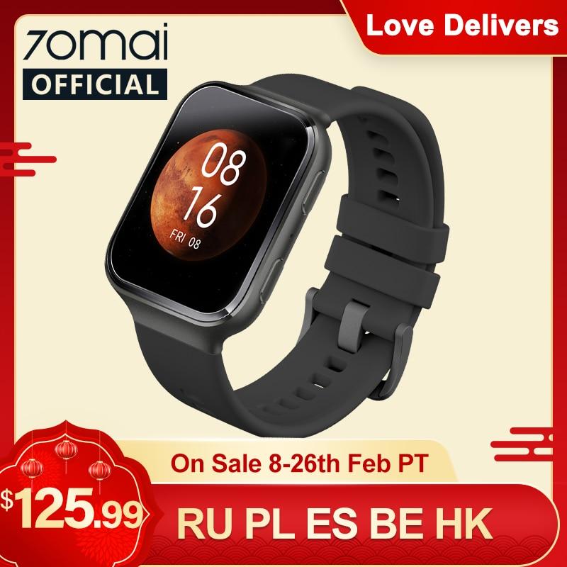 70mai Smart Watch 70mai Saphir Watch Bluetooth GPS Sport Heart Rate Monitor 5ATM Resistance Call Rem