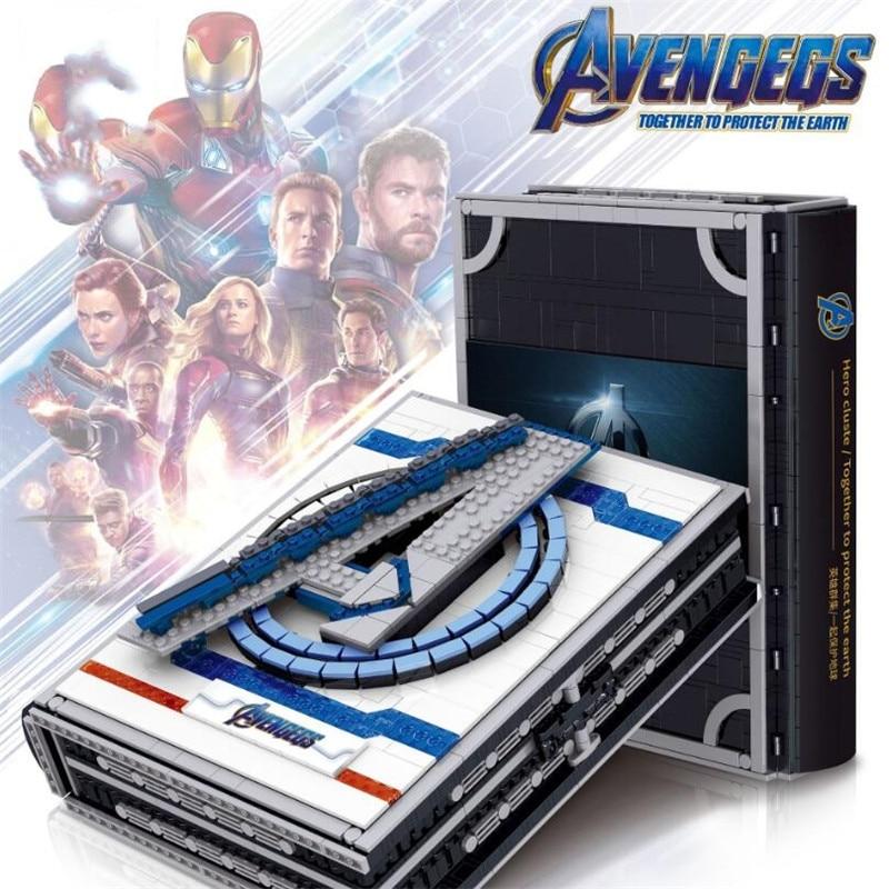 Nuevo libro de superhéroes IronMan SpiderMan Avenger Tower Battle 76166 bloques de construcción de ladrillos juguete de regalo para niño