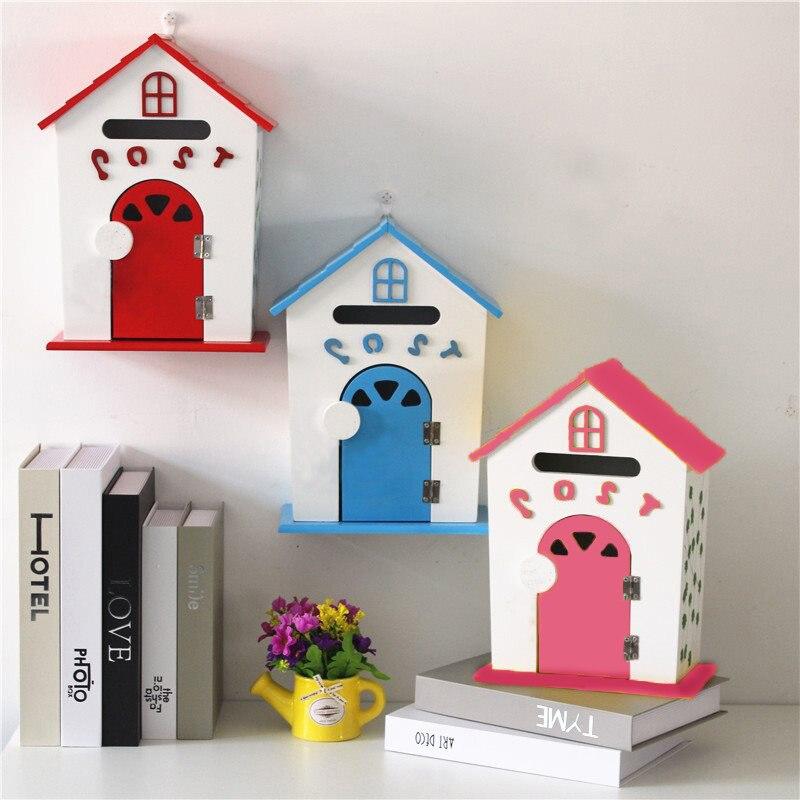 Buzón de pared, buzón Pastoral, buzón de correos, cubo, buzón de correo de periódico, decoración para el hogar, balcón, jardín, buzón de letras para exteriores