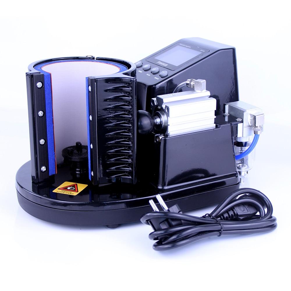 ST-110 280 w ouvir máquina automática da imprensa do calor da sublimação da máquina de transferência para a imprensa do calor da impressão do copo da caneca