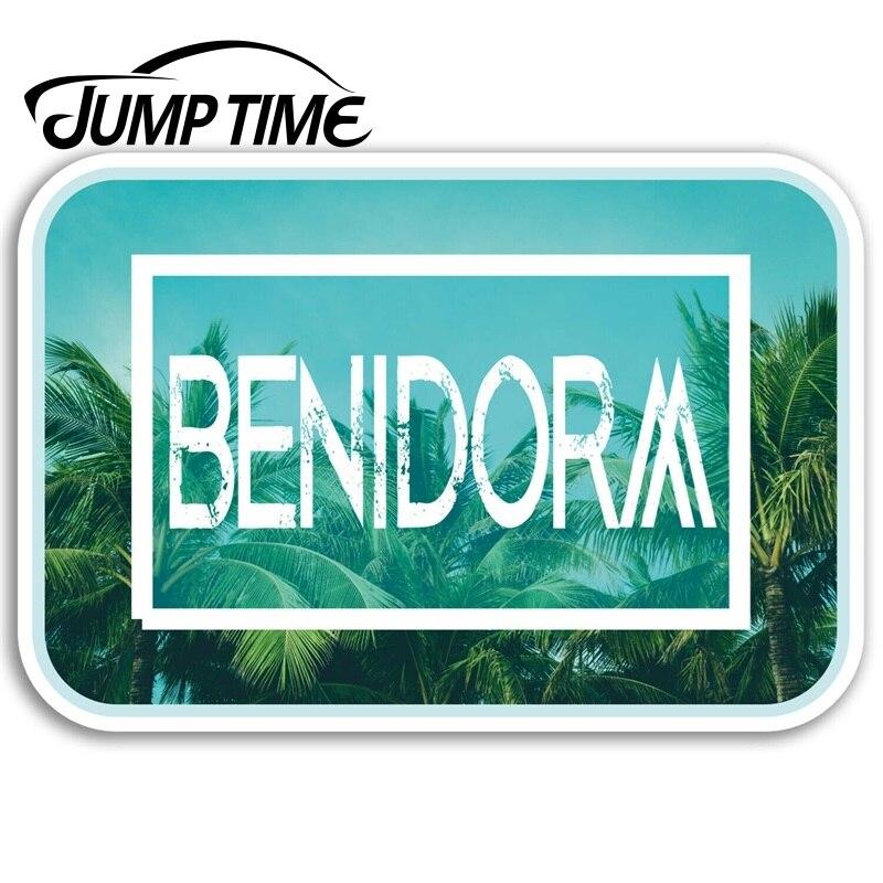 Jump Time Benidorm Vinyl Stickers Spain Travel Sticker Laptop Luggage Decal Truck Window Car Wrap Car Accessories