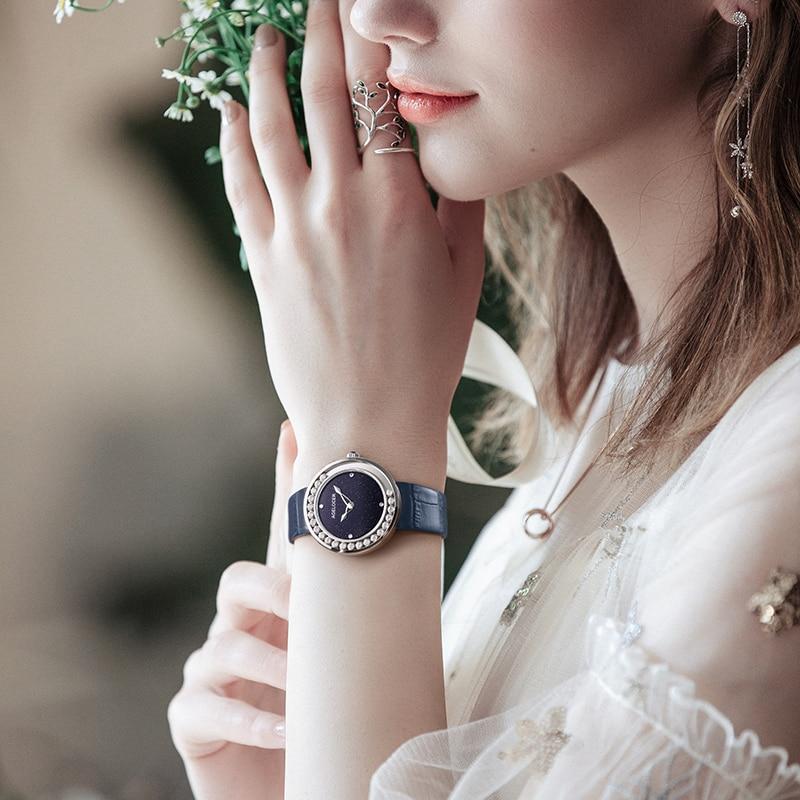 AGELOCER Women's Watches Fashion Luxury Top Brand Diamond Black Women Wristwatch Sapphire Casual Ladies Quartz Watch Clock New enlarge
