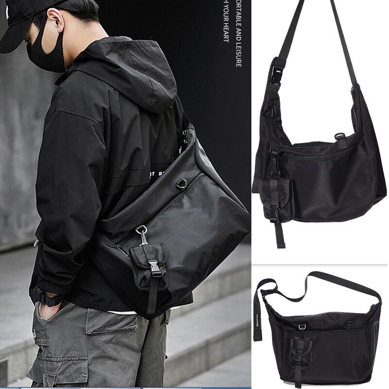 Men's shoulder bag fashion messenger bag trend messenger bag Japanese tooling bag satchel shoulder male bag for men
